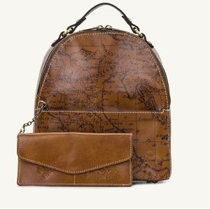 Patricia Nash Leather  Signature Map Backpack